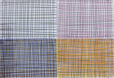 Lia Perjovschi, 'Drawings with squares (series of 4)', 2013-2015