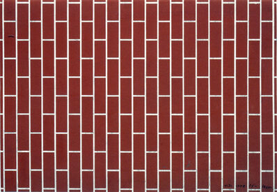 Victor Vasarely, 'Untitled (Mur de brique)', 1939
