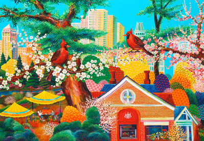 Dukki Kim, 'New York - Scenery with Cardinals', 2017