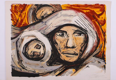 David Alfaro Siqueiros, 'Untitled, mother and child', ca. 1972