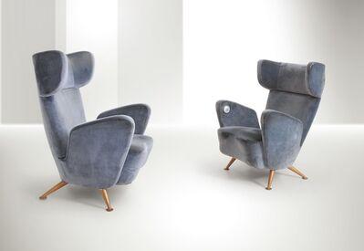 Gio Ponti, 'armchairs, Breda', 1950s