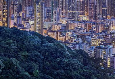 Romain Jacquet-Lagrèze, ''The Blue Moment #4' Hong Kong', 2016