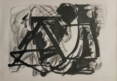 """Somnath Hore, 'Reclining Figure, Brush on Paper by Modern Indian Artist """"In Stock""""', 1963"""