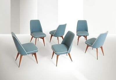 Melchiorre Bega, 'six chairs, Bologna', 1956