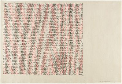 Mel Bochner, 'Range', 1979