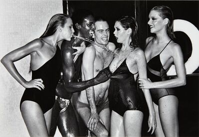 Helmut Newton, 'Jerry Hall, Spitting, French Vogue', 1978