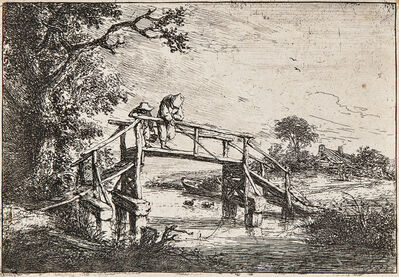 Adriaen van Ostade, 'The Anglers', c. 1653-probably an 18th century impression