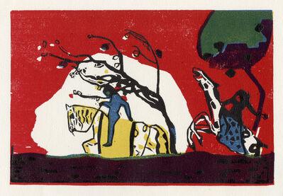 Wassily Kandinsky, 'Zwei Reiter vor Rot', 1938