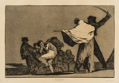 Francisco de Goya, 'Dos a Uno, meten la Paja en el Culo (Que Guerrero!), from 'Los Proverbios'', circa 1824