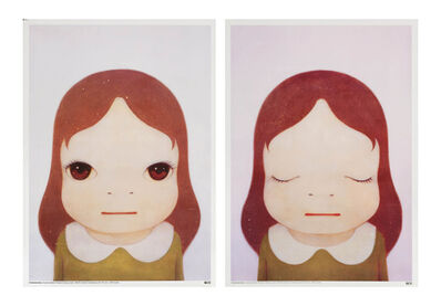 Yoshitomo Nara, 'Cosmic Girl (Eyes Open, Eyes Shut)', 2008