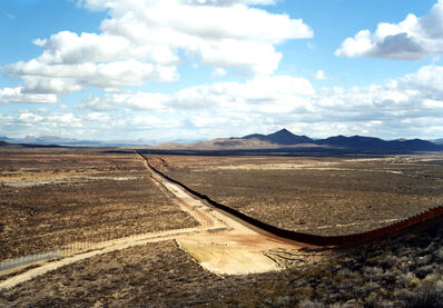 Victoria Sambunaris, 'Untitled (Border Fence), Near Naco, Arizona', 2010