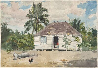 Winslow Homer, 'Native Huts, Nassau', 1885