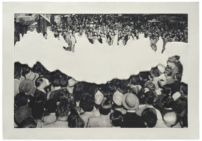 John Baldessari, 'Crowds with Shape of Reason Missing Example 2', 2012