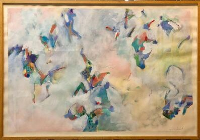 """Jeff Christ, '1980s Mixed Media """"Cellophane"""" Modernist Abstract Painting', 1980-1989"""