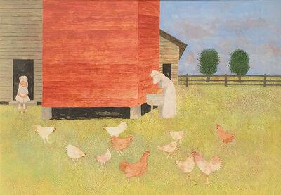 Carroll Cloar, 'Chickens', 1993