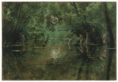 Christoph Pöggeler, 'Badende Frauen im Wald', 1990