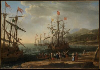Claude Lorrain, 'The Trojan Women Setting Fire to Their Fleet', ca. 1643