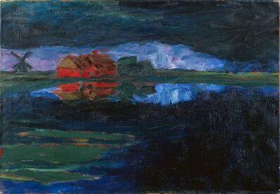 Emil Nolde, 'Landschaft (Petersen II)', 1924