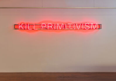 Brook Andrew, 'KILL PRIMITIVISM', 2017
