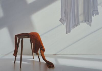 Edite Grinberga, 'Schemel mit Orange', 2018
