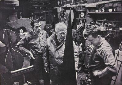 Inge Morath, 'Alexander Calder, Waterbury foundry'
