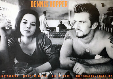 Dennis Hopper, 'Dennis Hopper Out of the Sixties exhibit poster (Dennis Hopper Biker Couple)', 1986