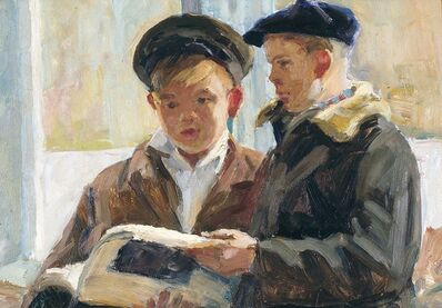 Mikhail Nikolaevich Sokolov, 'School boys', 1957