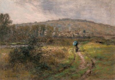 Léon Augustin Lhermitte, 'Chemin Face a Charteves', 1913