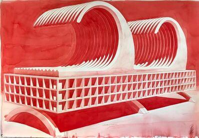 Alexandre Arrechea, 'Tormenta en el salón (rojo)', 2017