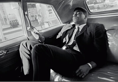 Thomas Hoepker, 'Muhammad Ali tours in a limousine', 1966