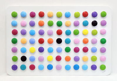 Stan Slutsky, 'HOMAGE TO HIRST (DIMENSIONAL PIECES OF WOOD WITH MAGNETS)', ca. 2000
