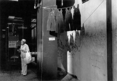 Dawoud Bey, 'A Woman with Hanging Overalls, 1978', 1978