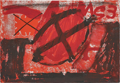 Antoni Tàpies, 'Cercle rouge (Red Circle)', 1976