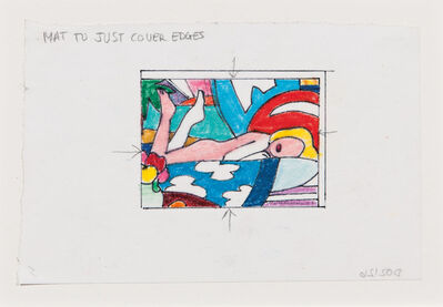 Tom Wesselmann, 'Study for Sunset Nude (Two Legs Up)'
