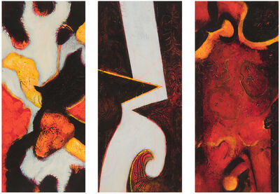 William Scharf, 'Vernal Equinox, Shrine Climb, On the Path's Map (From left to right)', 2005