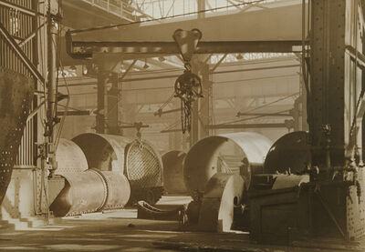 Charles Sheeler, 'Baldwin Locomotive Plant', 1937