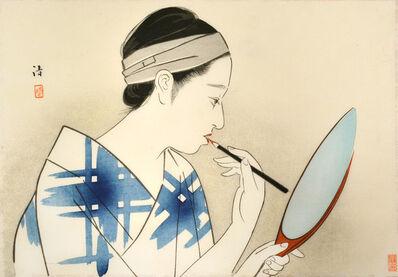 Kiyoshi Saito, 'Applying Beni to Her Lips', ca. 1930