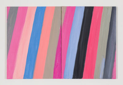 Ann Craven, 'Diptych (Pink Canary, on Pink, on Blue), 2017', 2017