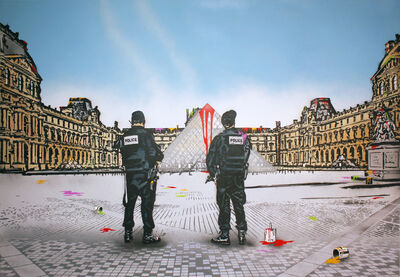 Nick Walker, 'Vandal VS the Louvre', 2019