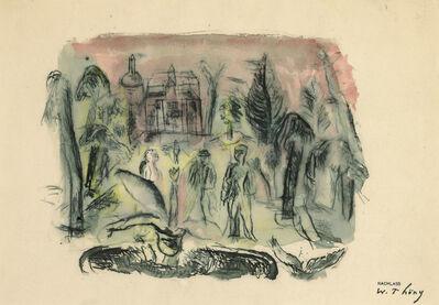 Wilhelm Thöny, 'Walk in palace garden'