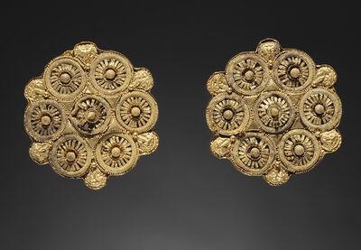 'Pair of Disk Earrings',  late 6th century B.C.