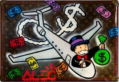 Alec Monopoly, 'Monopoly Flying the $ PJ LV Trunk', 2019