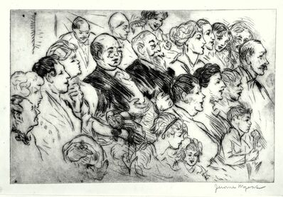Jerome Myers, 'At the Show', ca. 1920