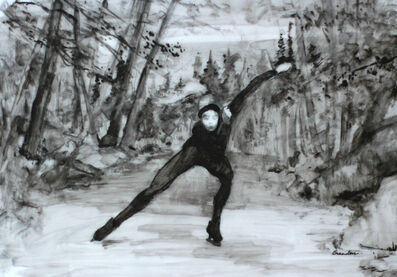Linda Tracey Brandon, 'Night Speedskating'