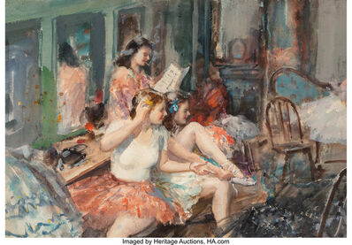 John Whorf, 'Young Ballerinas'