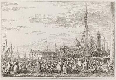 Canaletto, 'The Market on the Molo [upper left]', ca. 1735/1746
