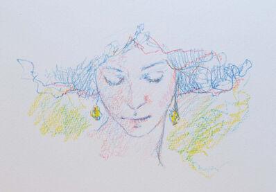 Jose Royo, 'Sketch (Blue)', 21st Century