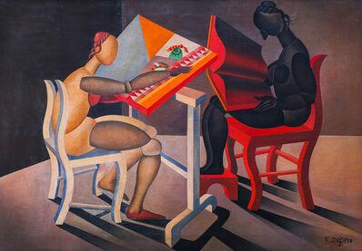 Fortunato Depero, 'Lettrice e ricamatrice automatiche', 1921-23