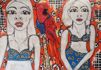 Yosi Messiah, 'Red Parrot ', 2017