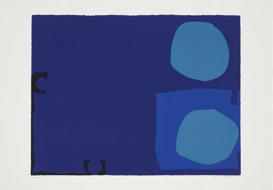 Patrick Heron, 'Four Blues, Two Discs', 1970